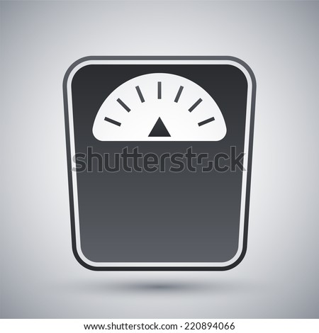 Vector bathroom scales icon - stock vector