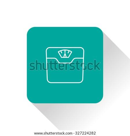 Vector bathroom weight scale icon - stock vector