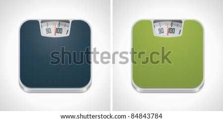 Vector bathroom weight scale icon - stock vector