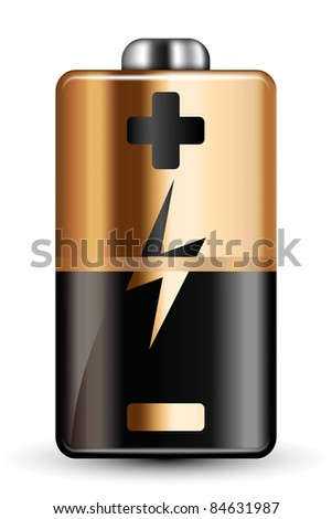 Vector Battery Icon - stock vector