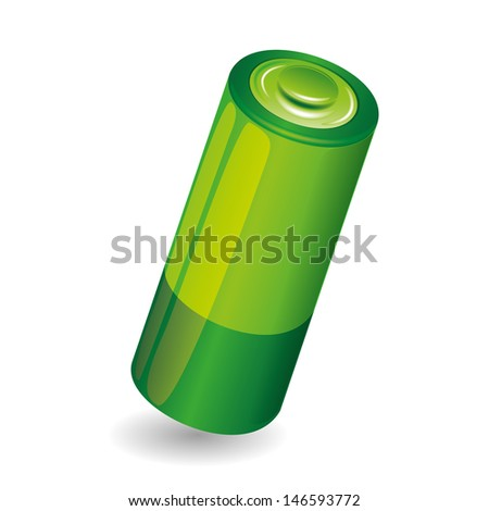 Vector. Battery isolated on white background. - stock vector