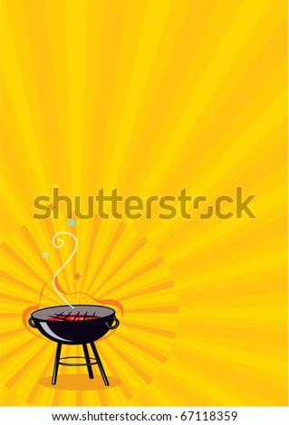 Vector BBQ Poster or Flayer - stock vector