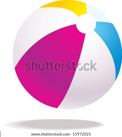 vector beach ball illustration - stock vector