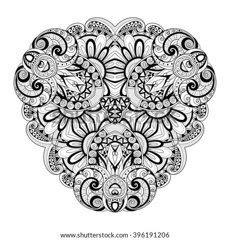 Vector Beautiful Deco Black Triangle, Patterned Design Element, Original Mandala