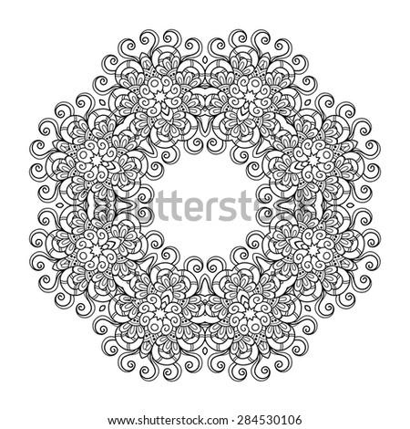 Vector Beautiful Deco Mandala. Round Ornament Pattern - stock vector