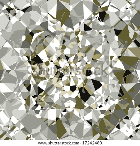 Vector Beautiful Diamonds Background, See Jpeg Also In My Portfolio - stock vector
