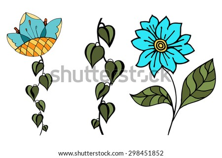 Vector Beautiful Flowers, Floral Design Element