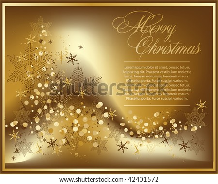 vector beautiful  gold background - stock vector