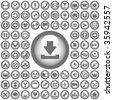 Vector beautiful icon set - stock vector
