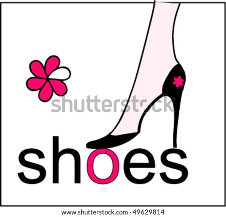 vector beautiful shoes - stock vector