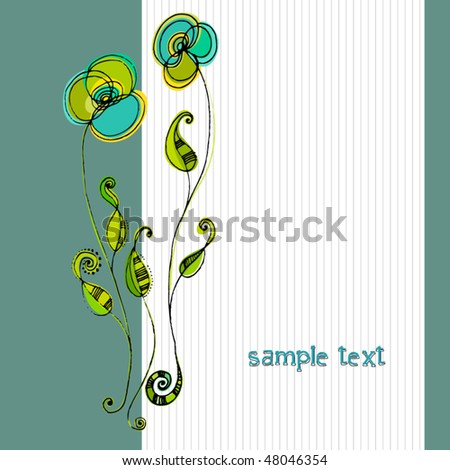 vector beautiful spring background with illustrated cute flowers