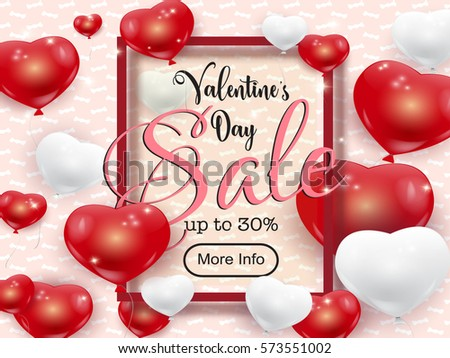 Vector Valentines Day Sale Banner Template Stock Vector 573499369 ...