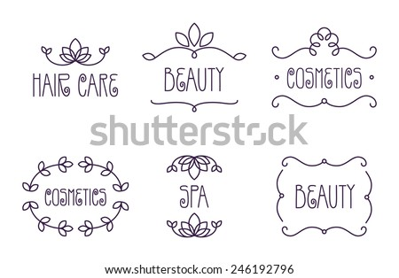 Vector Beauty and Care logo template set - stock vector
