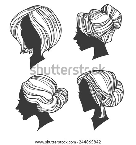 vector beauty images - stock vector