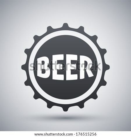 Vector beer bottle cap icon - stock vector