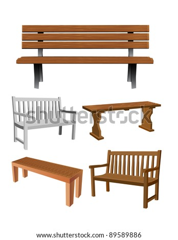 Vector Bench set - stock vector