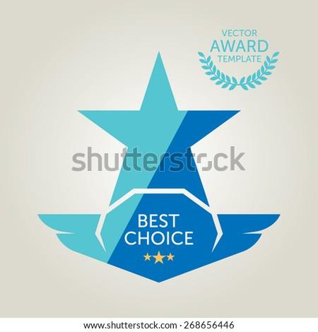 Vector Best Choice Flat Award Logo - stock vector