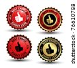 Vector best choice guaranteed labels - stock photo