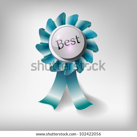 Vector best choice label - stock vector