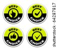 vector best choice stickers - stock photo