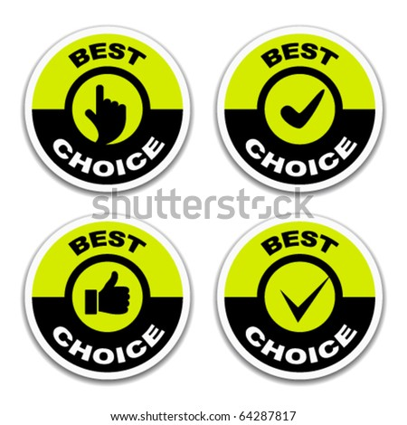 vector best choice stickers - stock vector