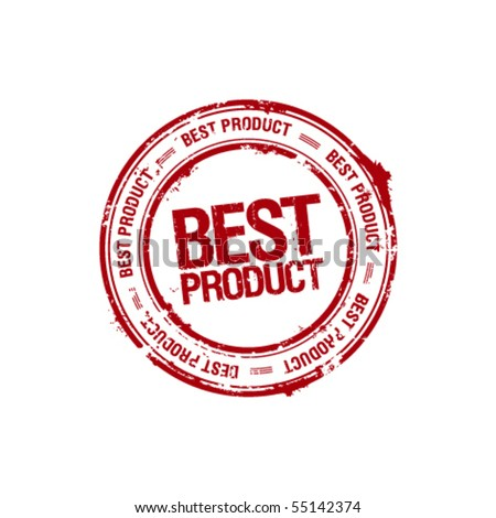 vector best product leader stamp - stock vector