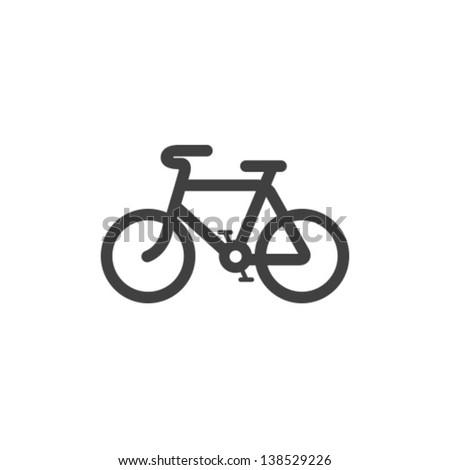 Vector Bicycle Icon Symbol - stock vector