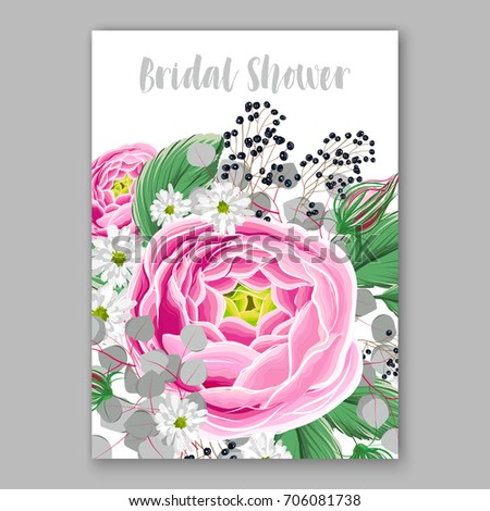 Vector big paper flower origami rose stock vector 706081738 vector big paper flower origami rose anemone peony wedding invitation floral card template mightylinksfo