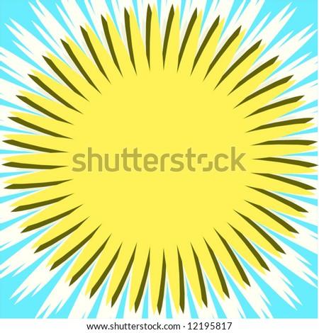Vector Big Sun - stock vector