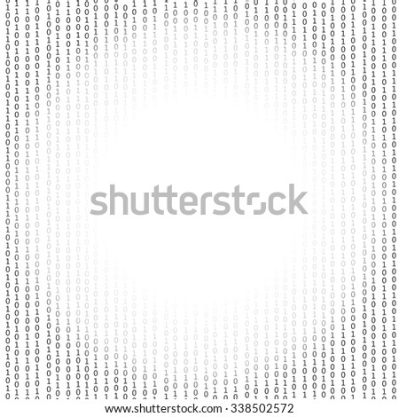 Vector Binary Code Background. Concept Binary Code Numbers. Algorithm Binary, Data Code, Decryption and Encoding. - stock vector
