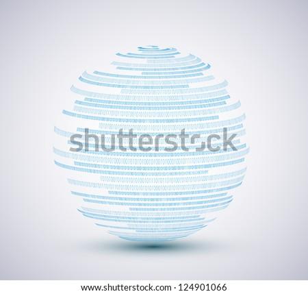 Vector binary sphere background. Eps10 illustration - stock vector