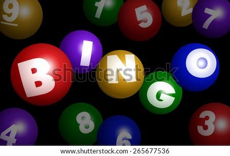 Vector Bingo Logo With Number Balls - stock vector