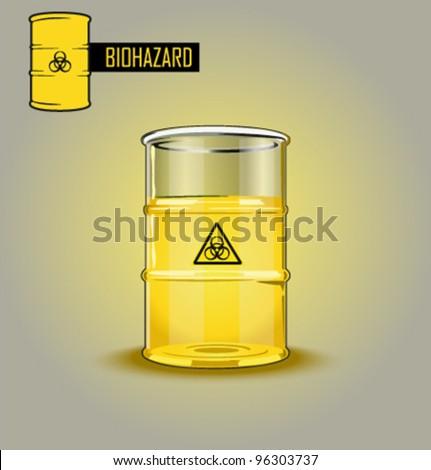 Vector bio-hazard barrel - stock vector