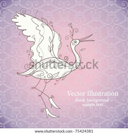 Vector bird - stock vector