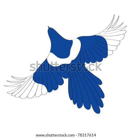 Vector bird. Illustration. - stock vector