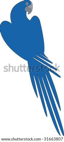 Vector. Bird parrot in color 04 - stock vector