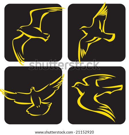 vector birds - stock vector