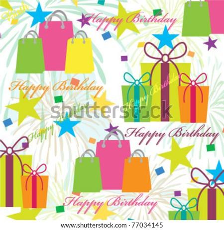 vector birthday pattern - stock vector