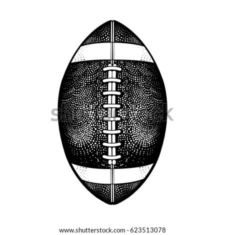 vector black white american football ball stock vector royalty free