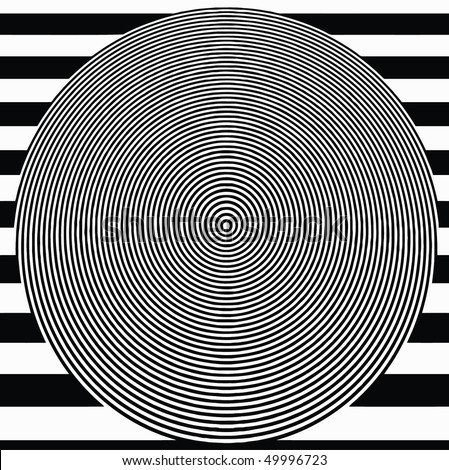 vector - black and white optical target - stock vector