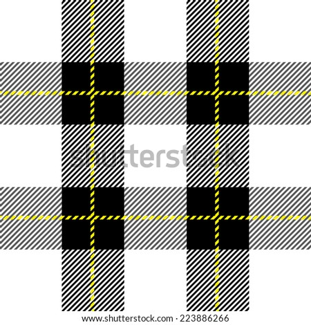 vector black and white  tartan plaid  pattern for background  - stock vector