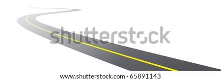 vector black asphalt road - stock vector