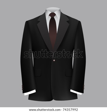 vector black business suit - stock vector