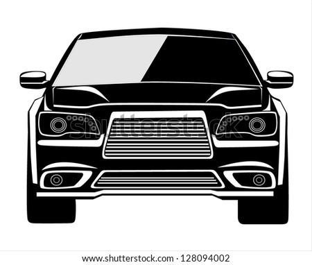 Vector black car - stock vector