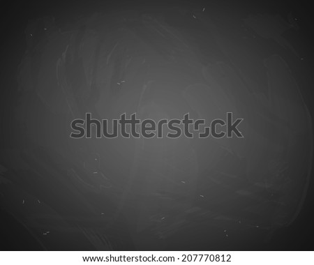 Vector black chalkboard background. Blackboard with chalk traces - stock vector