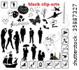 vector black clip-arts - stock photo