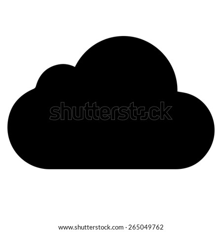 vector black cloud icon on white background. eps 10 - stock vector