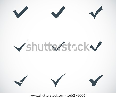Vector black confirm icons set - stock vector