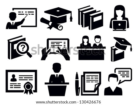 Education Icon Stock Images, Royalty-Free Images & Vectors ...