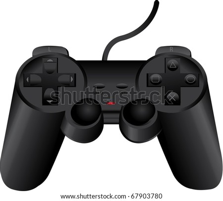 vector black game pad eps8 - stock vector